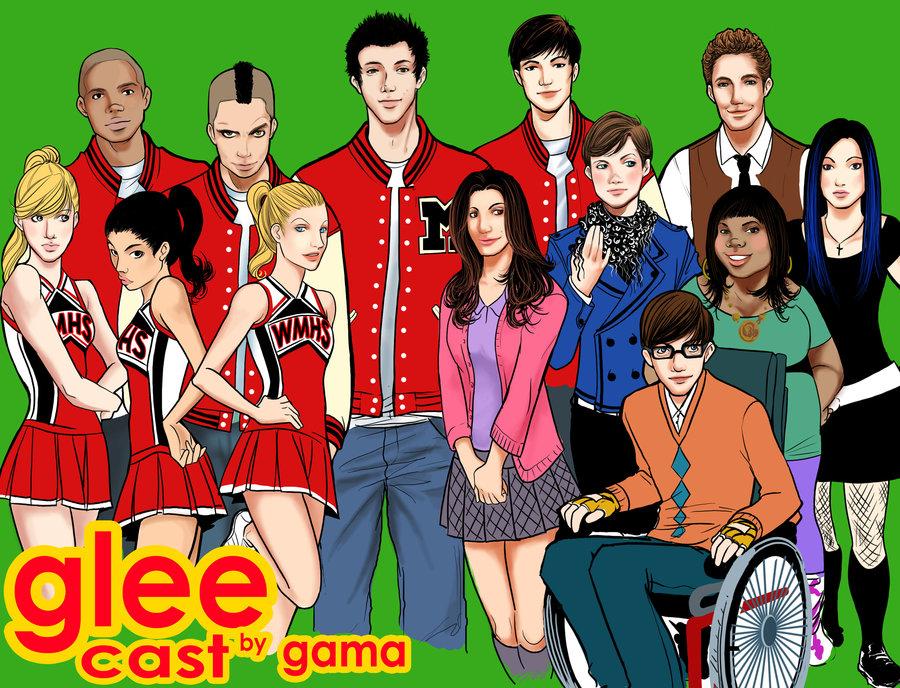 Fan Art Glee Cast By Romax25 On Deviantart Being Rachel