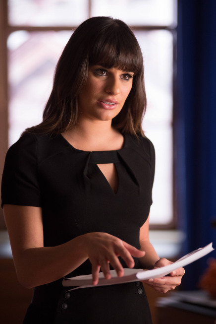 "GLEE: Rachel (Lea Michele) is cast in a student film in the ""Naked"" episode of GLEE airing Thursday, Jan. 31 (9:00-10:00 PM ET/PT) on FOX. ©2013 Fox Broadcasting Co. CR: Eddy Chen/FOX"