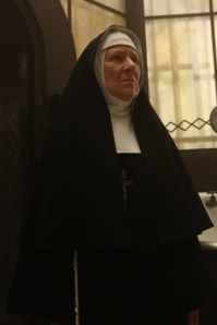 AMERICAN HORROR STORY Spilt Milk -- Episode 211 (Airs Wednesday, January 9, 10:00 pm e/p) -- Pictured: Barbara Tarbuck as Mother Claudia -- CR: Byron Cohen/FX
