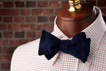 Midnight Pinwale Bow Tie